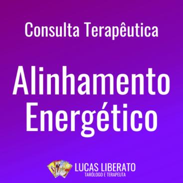 Capa do produto Consulta Terapêutica de Alinhamento Energético, com fundo roxo em degradê.