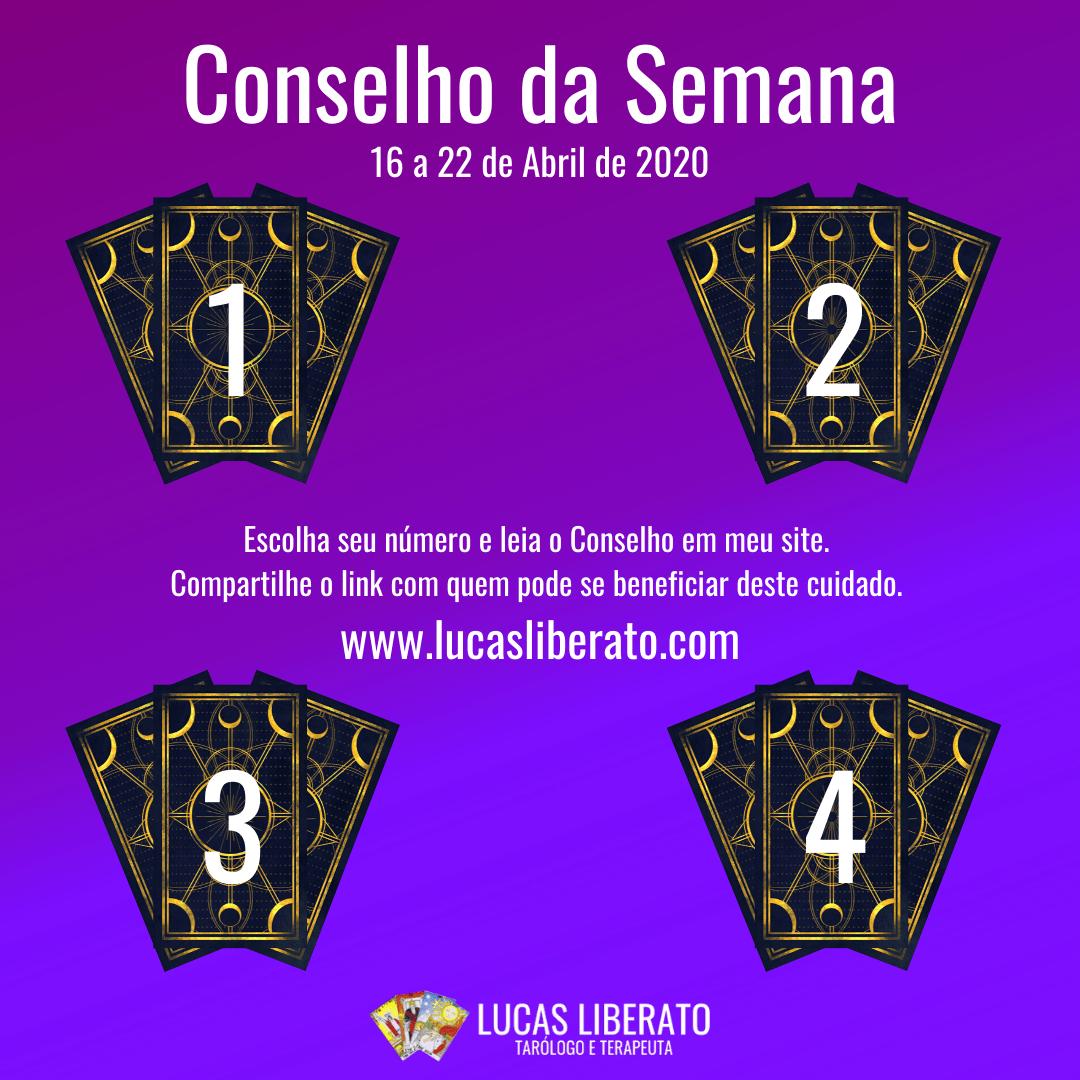4 opções de jogos de cartas para a escolha do Conselho da Semana de 16 a 22 de Abril de 2020